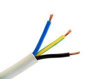 Fios do cabo da corrente eléctrica Imagens de Stock