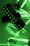Fios do computador da cor Fotografia de Stock