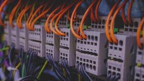 Fios do PLC fotos de stock