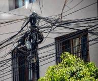 Fios elétricos de Lima imagem de stock royalty free
