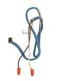 Fios elétricos pesados que vêm da parede. Imagem de Stock Royalty Free