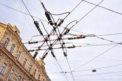 Fios em St Petersburg fotografia de stock royalty free