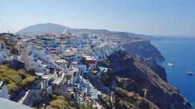 FirÃ, a capital de Santorini, Grécia fotos de stock