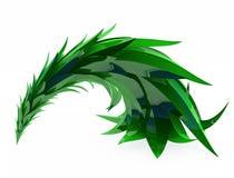 Fir, Bent. Stylized cartoon 3d fir tree, over white Stock Images