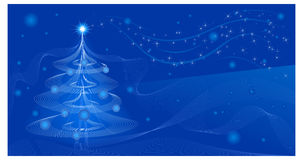 Fir in blue Royalty Free Stock Image
