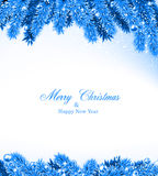 Fir blue christmas frame. Stock Photography