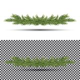 Fir Branch Isolated on White Background. Christmas Tree. Holiday Decorations with Spruce Tree. Vector Illustration Royalty Free Stock Image