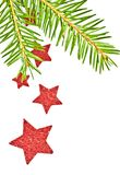 Fir branch with the star. Stock Photography