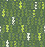 Fir branches seamless pattern. Modern pattern with fir branches. Vector illustration. Hand drawn green spruce wallpaper Stock Photos