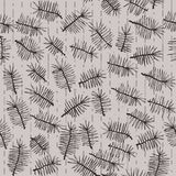 Fir branches seamless pattern. On striped background. Use as pattern fill, backdrop, surface texture Royalty Free Stock Images