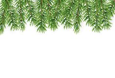 Fir Branches with Snow. Merry Christmas and New Year Winter Background. Vector Illustration. EPS10n Royalty Free Stock Image