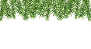 Fir Branches with Snow. Merry Christmas and New Year Winter Background. Vector Illustration. EPS10n Royalty Free Stock Photography