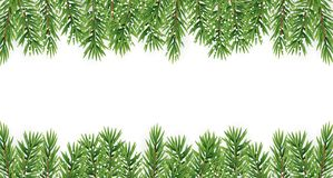 Fir Branches with Snow. Merry Christmas and New Year Winter Background. Vector Illustration. EPS10n Royalty Free Stock Images