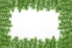 Fir Branches with Snow. Merry Christmas and New Year Winter Background. Vector Illustration. EPS10n Stock Image