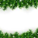 Fir christmas background. Christmas background with fir and stars. Vector illustration Royalty Free Stock Images