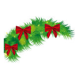 Fir with christmas bow arc icon. Illustraction design Stock Image