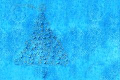 Fir Christmas Cards. Christmas background, drawn on a blue fir Stock Photography