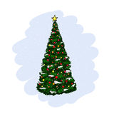 Fir with christmas decoration Royalty Free Stock Photos
