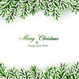 Fir christmas frame. Royalty Free Stock Photo