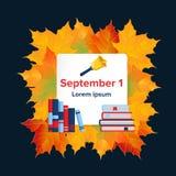 Fir de vlakke banner van September Stock Foto's