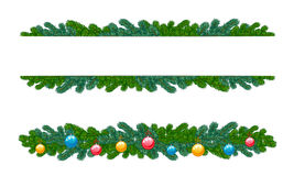 Fir decoration. On a white background Royalty Free Stock Image