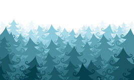 Fir forest. Frozen christmas tree forest background Royalty Free Stock Photo