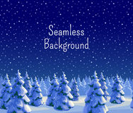 Fir forest seamless background. Winter seamless background with fir forest. Greeting card template. New year and Xmas Holidays design. Vector illustration Royalty Free Stock Photo
