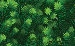 Fir needles seamless texture. Fir needles seamless pattern texture vector illustration Royalty Free Stock Images