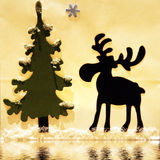 Fir with reindeer Royalty Free Stock Photo