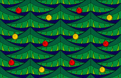 Fir seamless pattern with baubles Royalty Free Stock Photos