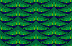 Fir seamless pattern. Seamless pattern with green christmas tree branches Stock Photo