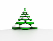 Fir in snow Royalty Free Stock Photography