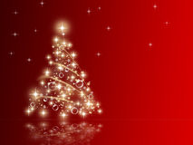Fir stars christmas Royalty Free Stock Images