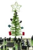 Fir-tree για τον κύριο στις ηλεκτρικές συσκευές Στοκ Εικόνες