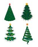 Fir-tree Χριστουγέννων σύνολο Στοκ φωτογραφίες με δικαίωμα ελεύθερης χρήσης