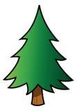 Fir tree. Cartoon vector illustration of a fir tree Royalty Free Stock Images