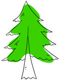 Fir tree. Vector fir tree is isolated on a white background Royalty Free Stock Images