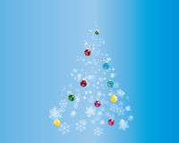 Fir-tree. Christmas (New Year) fir-tree with balls. Vector illustration Royalty Free Stock Photography