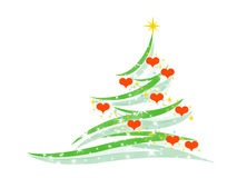 Fir-tree. Symbol of a fir-tree on a white background Stock Images