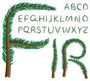 Fir tree alphabet Royalty Free Stock Photo