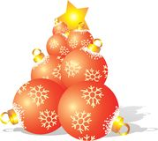 Fir tree from ball. Vector illustration Stock Image