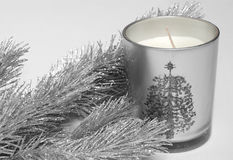 Fir tree and candle Royalty Free Stock Photography