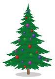 Fir tree with Christmas balls Stock Image