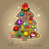 Fir-tree Christmas. Illustration of fir-tree Christmas Stock Image