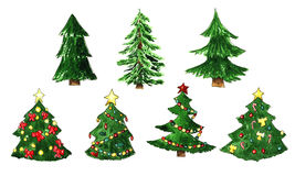 Fir tree for Christmas set. Fir tree for Christmas and New Year set Royalty Free Stock Images