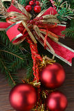 Fir tree with christmas toys Royalty Free Stock Image