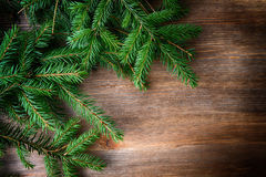 Fir tree with christmas toys stock photography