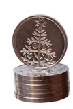 Fir-tree coin Stock Photos