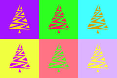 Fir-tree composition. Vectorial composition on new-year subjects Stock Photos