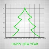 Fir tree diagram. Vector illustration Royalty Free Stock Image